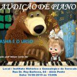 Professora Míriam Corrêa Jáki promove audição de piano com os temas: 'Masha e o Urso' e 'Eu Amo Piano'